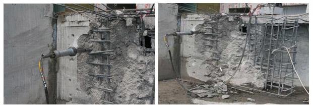 Разрушение бетона, железобетона и камня гидроклином image