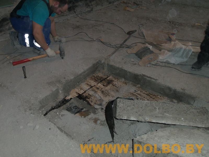 Примеры выполнения: резка, разрушение, демонтаж строительных конструкций 102656