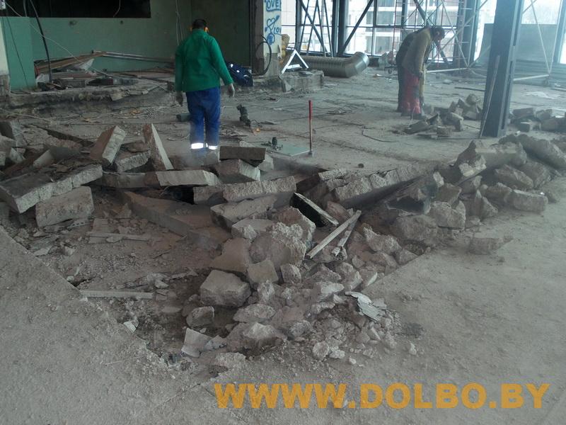 Примеры выполнения: резка, разрушение, демонтаж строительных конструкций 131415