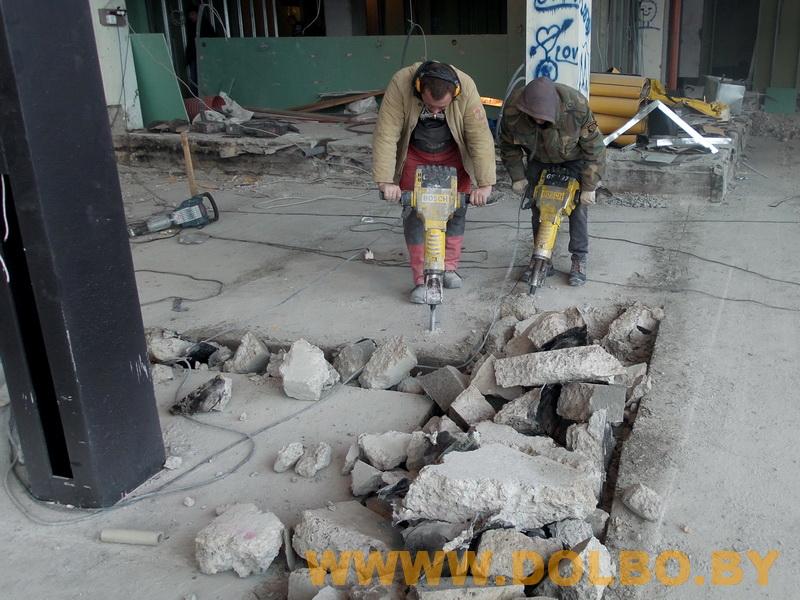 Примеры выполнения: резка, разрушение, демонтаж строительных конструкций 131542