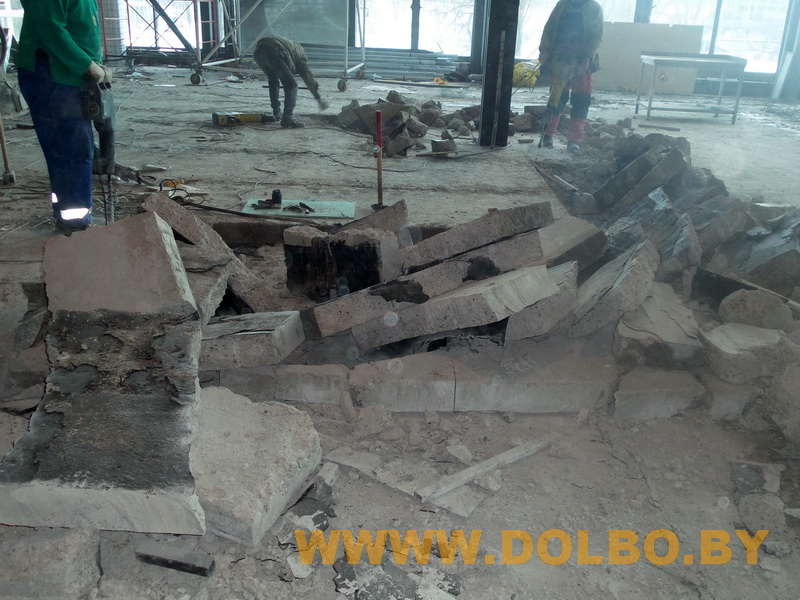 Примеры выполнения: резка, разрушение, демонтаж строительных конструкций 131629
