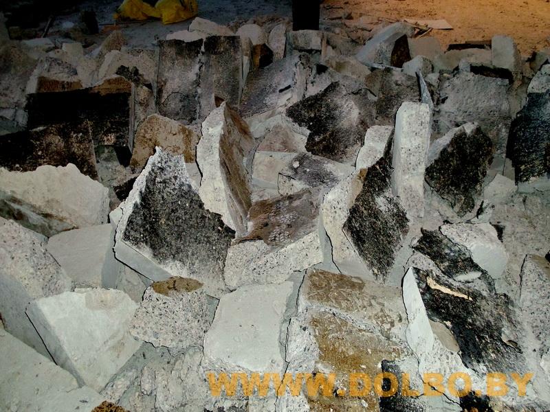 Примеры выполнения: резка, разрушение, демонтаж строительных конструкций 090808