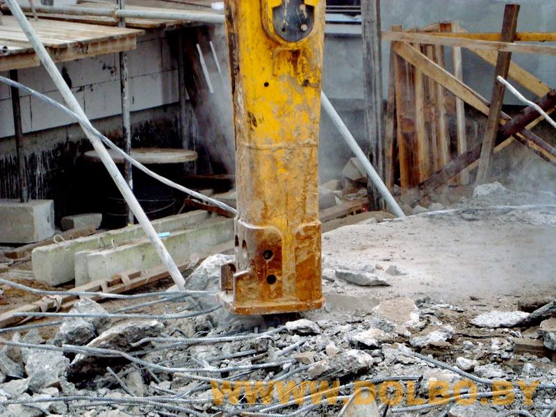 Примеры выполнения: резка, разрушение, демонтаж строительных конструкций
