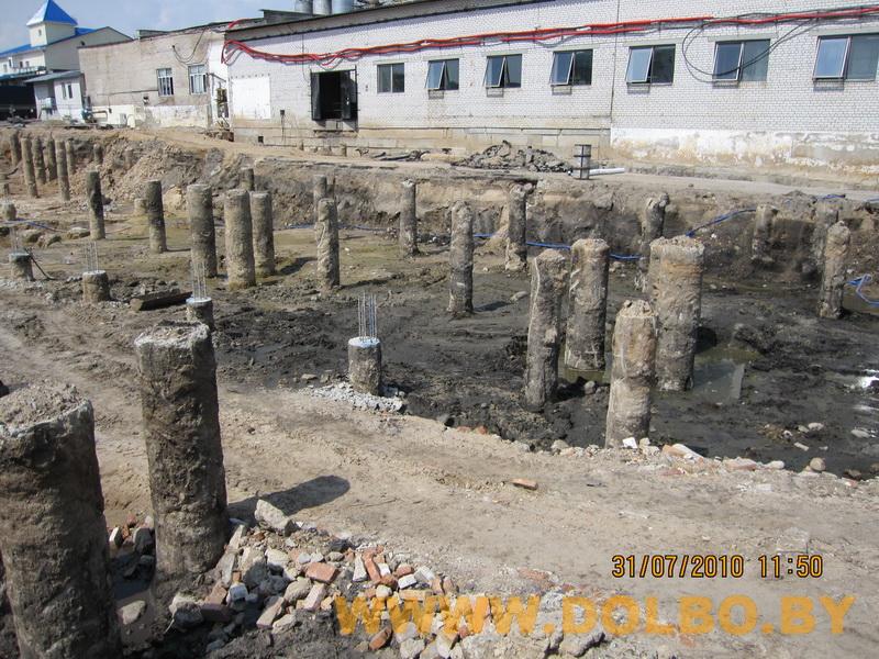 Примеры выполнения: резка, разрушение, демонтаж строительных конструкций 2322