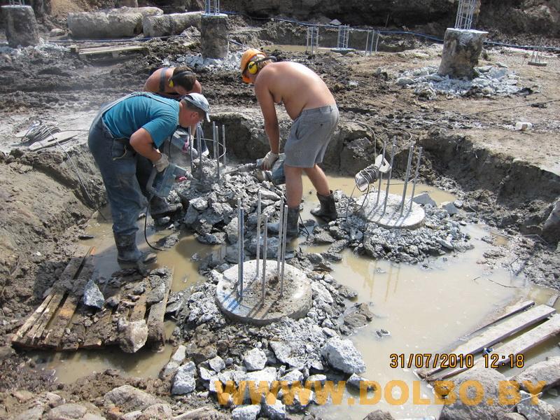 Примеры выполнения: резка, разрушение, демонтаж строительных конструкций 2328