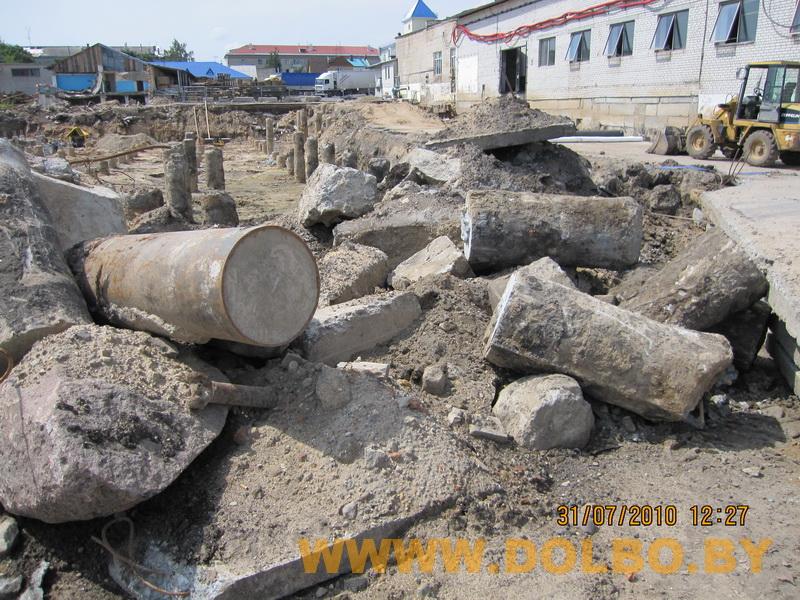 Примеры выполнения: резка, разрушение, демонтаж строительных конструкций 2333